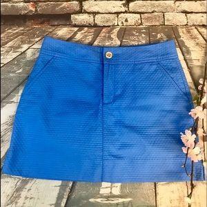 Lilly Pulitzer Blue Honeycomb Texture Skort